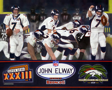 sports portraits of Denver Broncos John Elway 'Super Bowl XXXIII'